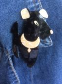 Ric the Terrier - 1950's Terrier Dog Brooch by Lea Stein of Paris ( Apologies SOLD)
